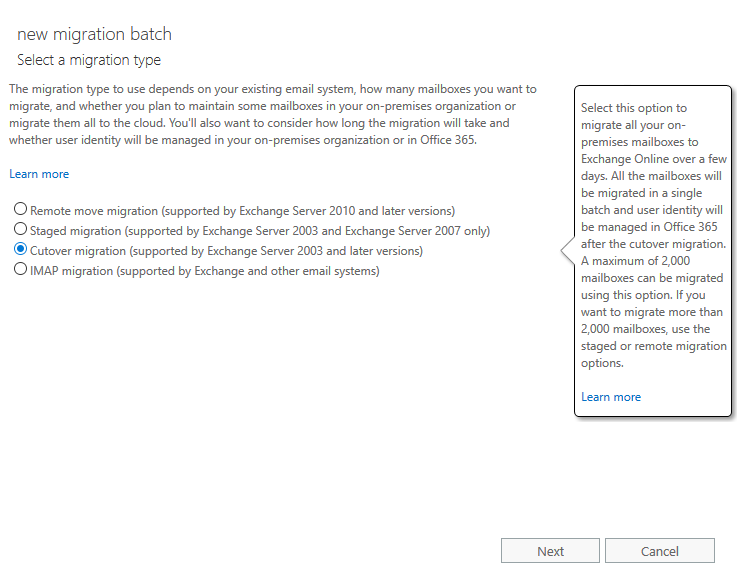Migrating from Intermedia Hosted exchange to Office365